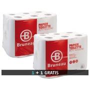 Papier toilette double épaisseur Bruneau - 1 colis 48 rouleaux acheté + 1 colis 48 rouleaux offert