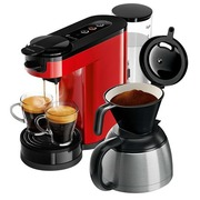 Philips Senseo Switch HD6592 - coffee machine - 1 bar - monza red