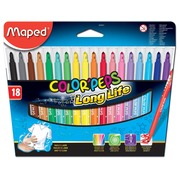 Maped Viltstift Color'Peps 18 stiften in een kartonnen etui