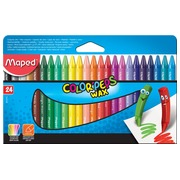 Maped crayon à cire Color'Peps, boîte de 24 pièces en couleurs assorties