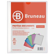 Translucent and personalizable document holders Bruneau polypropylene A4 20 sleeves - 40 sights colorless
