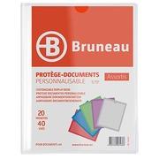 Transparante, personaliseerbare documentbeschermers Bruneau polypropyleen A4 20 hoesjes - 40 zichten kleurloos