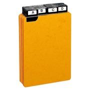 Guide de classement 148 x 105 mm Exacompta jaune - Jeu de 24
