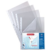 Pack of 10 removable sleeves Géode Viquel A4 smooth polypropylene 7/100e