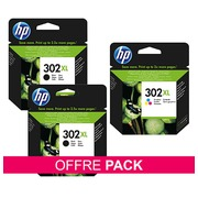 De_PACK 3 CART.HP302XL 2BK+1COULEUR