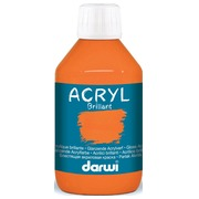 Darwi peinture acrylique brillante, flacon de 250 ml, orange