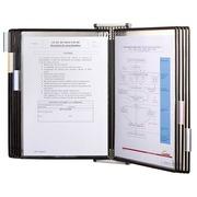 Draaibare documentenbeschermer met muurbevestiging Tarifold PVC A4 10 hoesjes - 20 zichten - kleur zwart