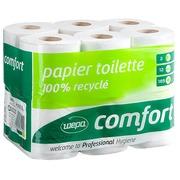 Papier toilette double épaisseur Wepa Comfort - Carton 96 rouleaux 185 feuilles