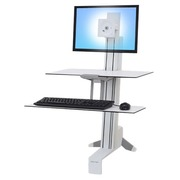 Ergotron WorkFit-S Single LD with Worksurface - convertor staand bureau