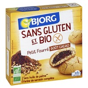 Filled biscuits with cocoa gluten-free Bio Bjorg - pack of 180 g