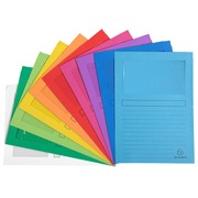 Cut flush folders paper with window FOREVER A4 120 g assorted - pack of 10