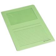 Pergamy pochette coin à fenêtre, paquet de 100 pièces, vert clair