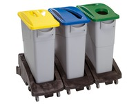 Support for garbage bin on wheels Rubbermaid Slim Jim