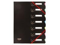 Eckspann-Sammelmappe Extendos in 2 Materialien mit 7 Unterteilungen - farbig sortiert