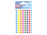 385 coloured stickers Agipa Ø 8 mm 6 assorted colours