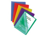 Set 25 sleeves with translucent polypropylene cover, assorted colours