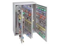 Armoire 300 clés fermeture à clé gris clair