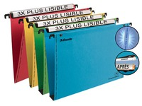 Dossier suspendu pour tiroirs 33 cm Premium kraft VMG Esselte fond normal couleurs assorties