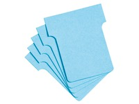 T-shaped guide cards standard 45 mm, blue 100pcs.