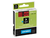 Dymo labels 9 mm black on red for Pocket/1000/2000/3500/5000/5500