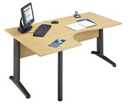 Compact desk Altys 2 right angle