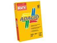 Papier kleur fel geel A4 80 g Rey Adagio felle kleuren - Riem van 500 bladen