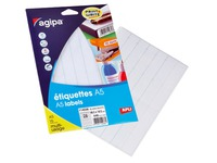 Box of 448 adhesive labels Agipa 114036 white 18,5 x 48,5 mm laser and inkjet