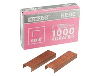 Box of 1000 staples 8/4 bébé copper plated