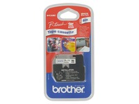 Ruban non laminé Brother 9 mm MK 223 blanc écriture bleue