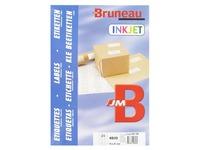Box von 4800 Adressetiketten Bruneau weiß 70 x 37 mm für Tintenstrahldrucker