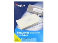 Box of 400 address labels Agipa 119014 white 105 x 148,5 mm for laser and inkjet