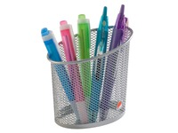 Pencil holder Alba Mesh 1 compartment - grey