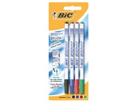 Bic Velleda, set of 4 whiteboard markers, fine tip 1.2 mm, assorted colours
