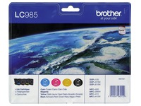 Set 4 cartridges Brother LC985 zwart + kleuren