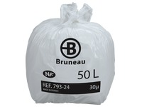 Bruneau NF white refuse bags, 50l