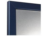 Silberfarbige Wandtafel 90 x 60 cm