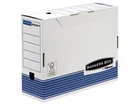 Boîte archives carton Bankers Box by Fellowes dos 10 cm bleue