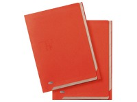 Signature file kraft A4 6 divisions orange for hanging folders