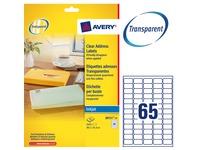 Pak 1625 adresetiketten Avery J 8551 38,1 x 21,2 mm voor inkjetprinter