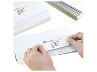 Etiquette adresse laser 63,5 x 46,6 mm Avery L7161-100 blanche - Boîte de 1800