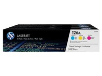Pack de 3 toner HP 126A couleurs