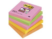 Zettel Neonfarben Super Sticky Post-It 76 x 76 mm