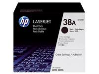 Pack 2 toners HP Q1338D zwart