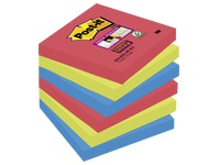 Notes colours Bora-Bora Super Sticky Post-it 76 x 76 mm - 1 block contains 90 sheets of 1 colour