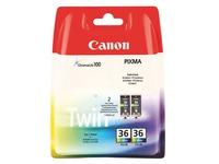 Pack Canon CLI36 + CLI36 cartridges 3 kleuren voor inkjetprinter