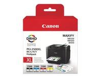 Pack 4 cartridges Canon PGI2500XL hoge capaciteit zwart + kleuren voor inkjetprinter