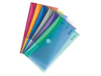 Tarifold Klettverschluss Dokumentenhalter 13,5 x 25 cm assortierte Farben - Paket von 6