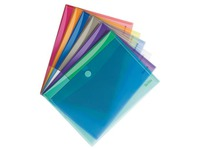 Tarifold velcro document holder 21 x 29,7 cm assorted colours - pack of 12