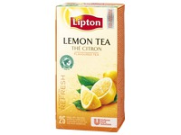 Box 25 Lipton teabags lemon