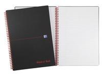 Spiralschreibblock Oxford Professional Black'N Red A4 21 x 29,7 cm - weiß liniert - 140 Seiten